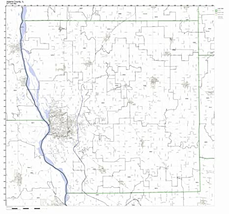 Amazon Com Adams County Illinois Il Zip Code Map Not Laminated