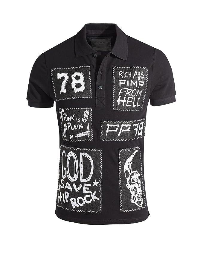 Philipp Plein - Polo para Hombre Punk IS Stein (HM352823): Amazon ...