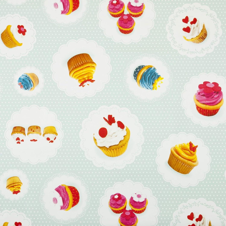 Duck Egg Cup Cake Parlour Café Summer Outdoor PVC Wipeclean Table Oilcloth