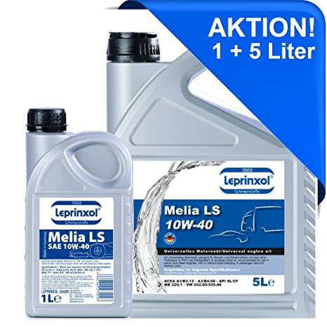 5 + 1 L LML 10 W40 antifricción para golf Polo Passat Touran.lepri nxol Melia LS 10 W de cuentos 40 aceite semisintético ...