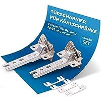 Kapı menteşesi seti, 2 x menteşe yedeği, Siemens Bosch 00268698 Miele 2285121 için, çeşitli kapılarda buzdolabı…