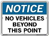 Vestil SI-N-69-C-AL-063 Notice Sign Aluminum