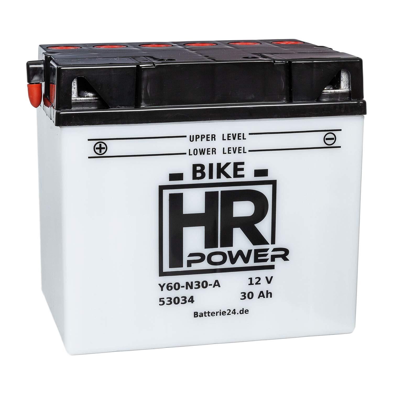 Batterie fü r Rasentraktor Rasenmä her Aufsitzmä her 12V 30Ah Y60-N30-A C60-N30-A 53034 wartungsfrei HR Bike