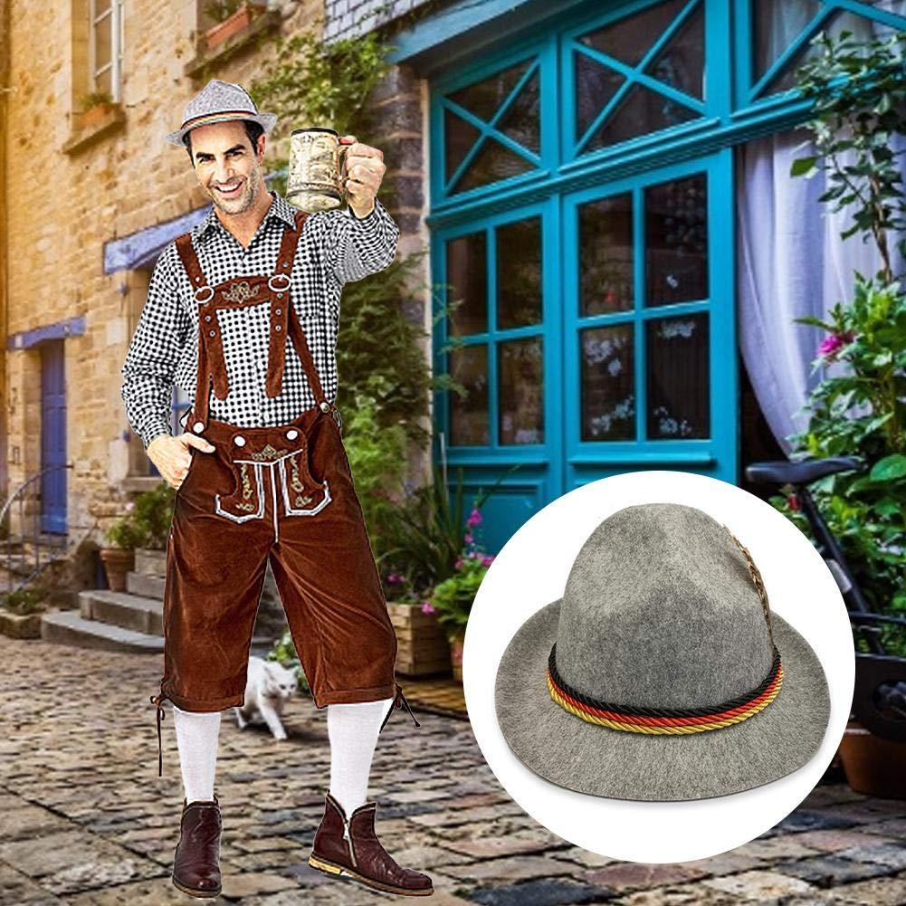Chapeau En Feutre Oktoberfest Chapeau De Carnaval Fasching Chapeau Alpine Adulte Chapeau En Feutre Oktoberfest Traditionnel