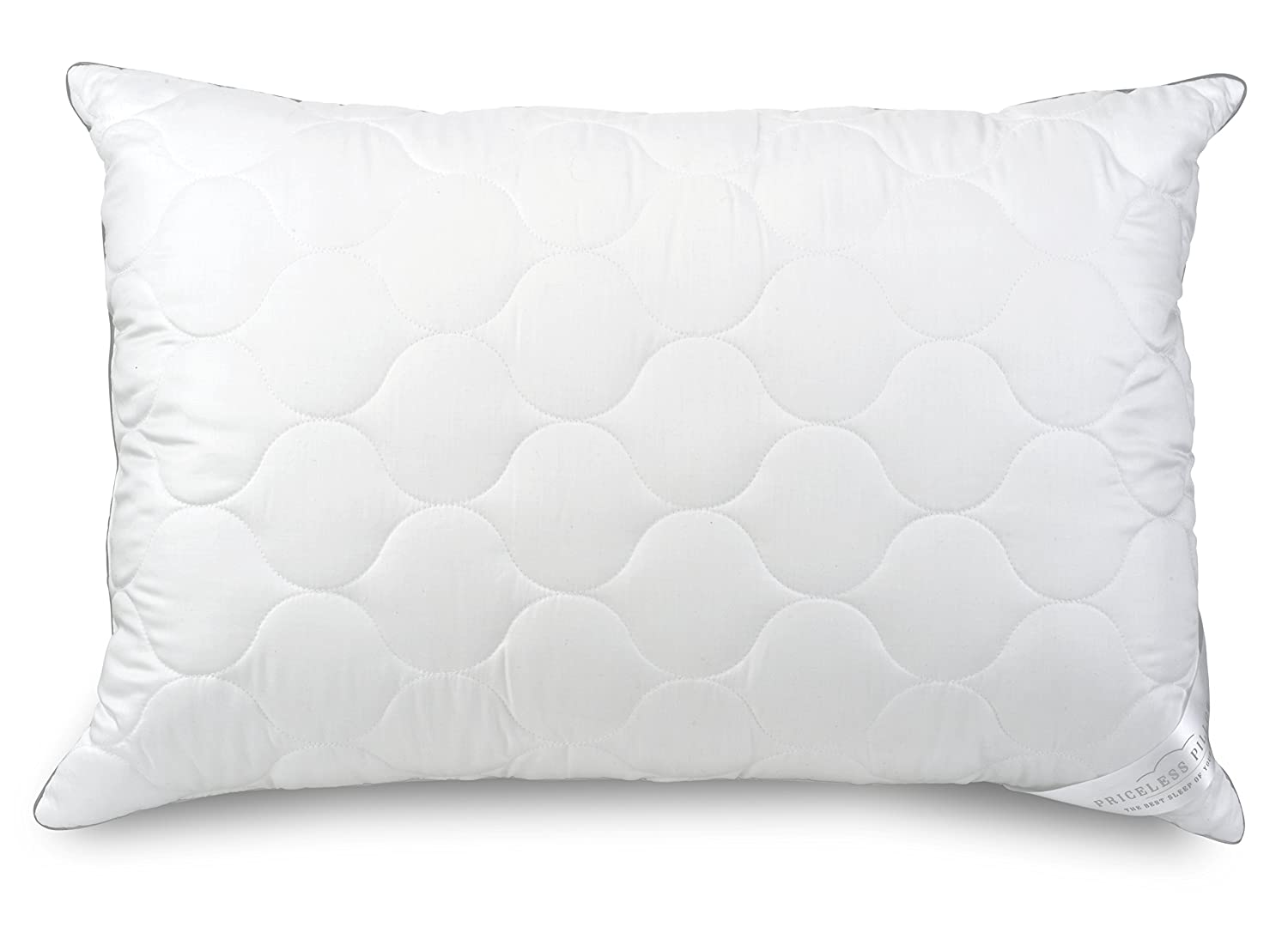 Firm Fill King Priceless Pillow   Luxury Standard Queen Sized Medium Fill Pillows   100% Tencel Fabric, Hypoallergenic, Virgin Gel Fibers, Ultra Comfortable (Medium Fill, Standard Queen - 2 Pack)