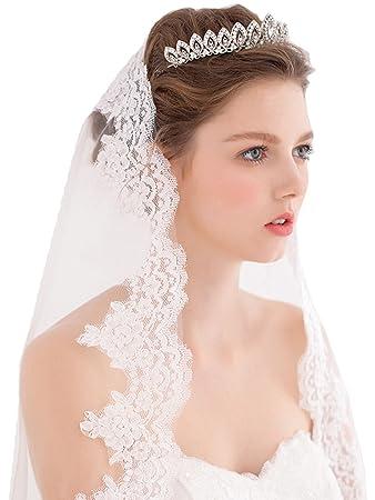 489c3884c9e2eb Amazon.com : COCOMELODY Rhinestone Hair Dress Head Accessories Crown Tiara Wedding  Bridal : Beauty