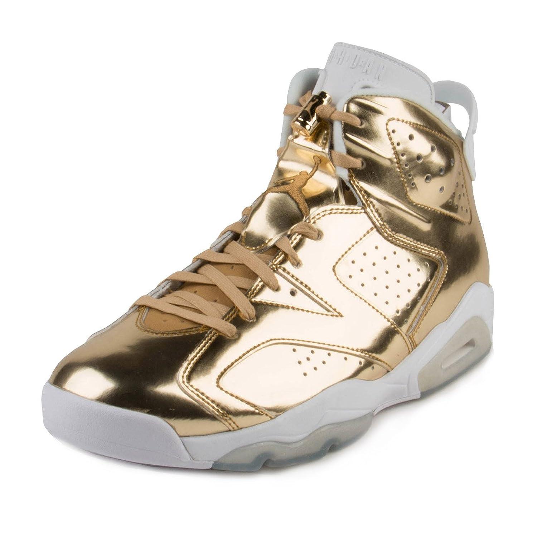 ed07d06a355ddb 30%OFF Nike Mens Air Jordan 6 Retro Pinnacle Metallic Gold White Leather