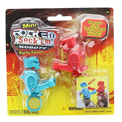 Mini Rock'em Sock'em Robots Party Favor Pack: Toys & Games
