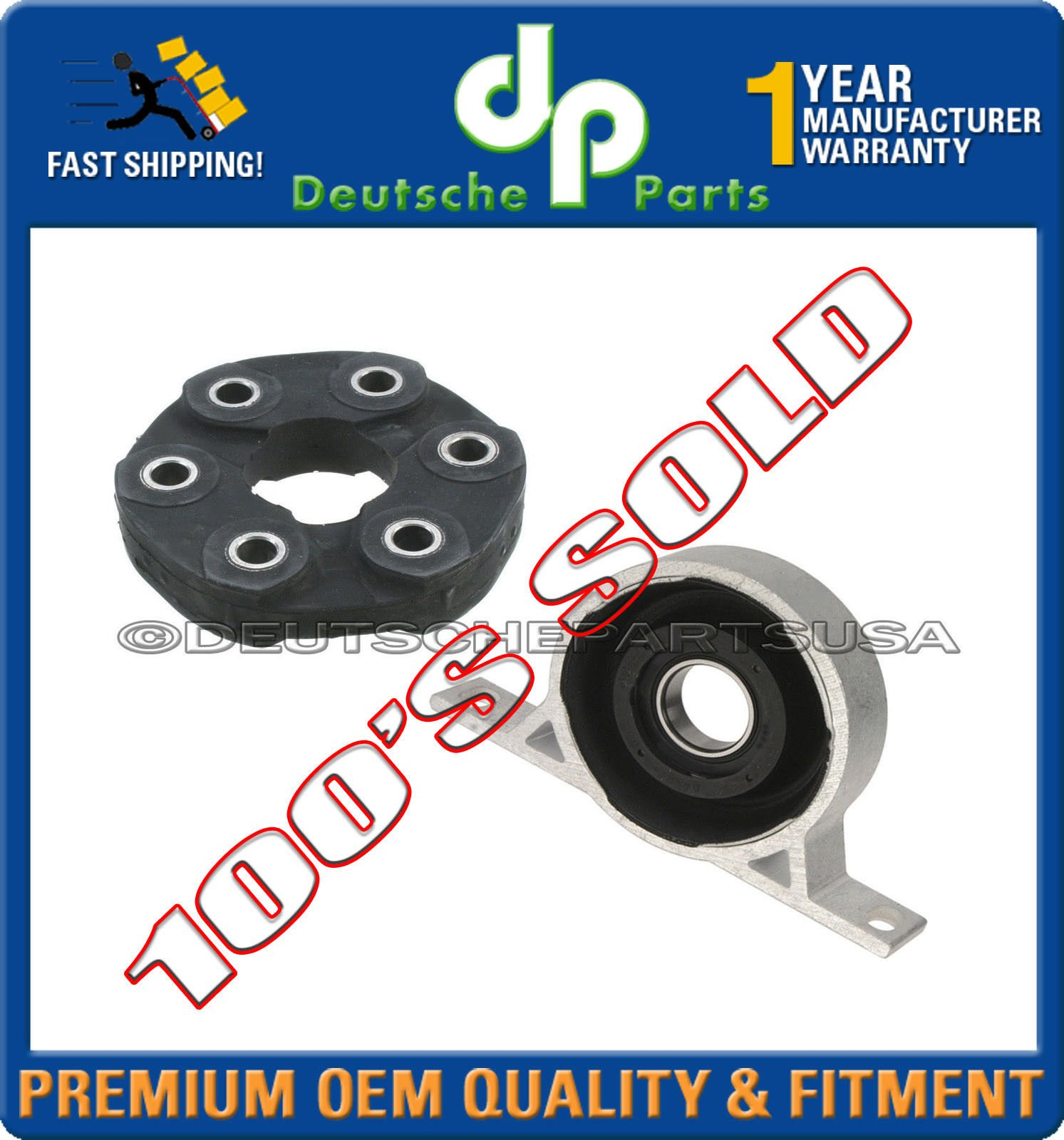 CARDAN Driveshaft Flex Disc Joint GUIBO + CENTER Support Bearing for BMW E83 X3