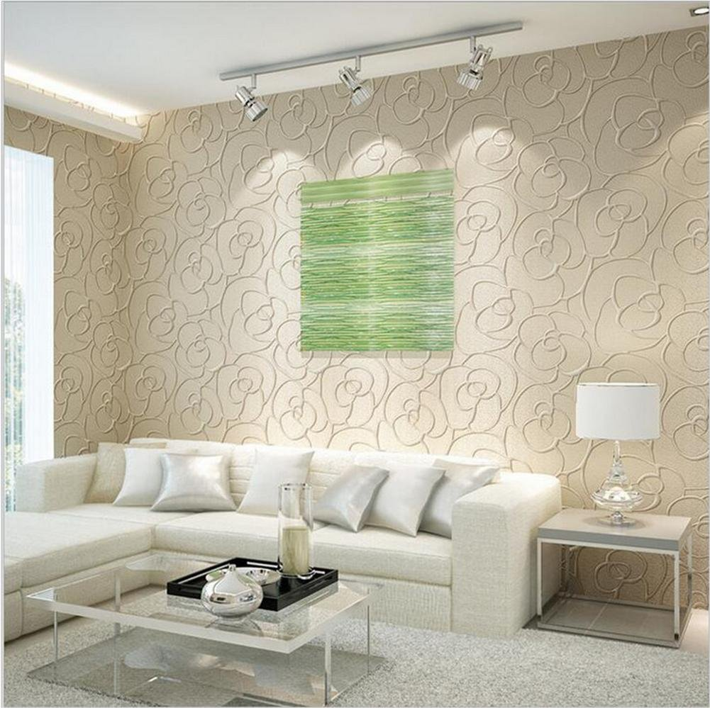 H M Wallpaper Thicker Damascus Style 3d Relief Non Woven Decoration Living Room Restaurant Tv Wall Bedroom Wallpaper 53 Cm W 10m L Buy Online In Mauritius H M Wallpaper Products In