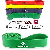 AdoreFit Bandas de Resistencia | Ligas de Estiramiento| Resistance Bands | Bandas Elásticas Cuerda de Fuerza para dominadas,Fitness, Crossfit, Pilates, Estiramientos - Látex Natural