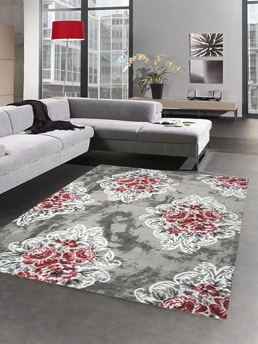 Carpetia Designer Teppich Wohnzimmerteppich Blumen Bluten Barock