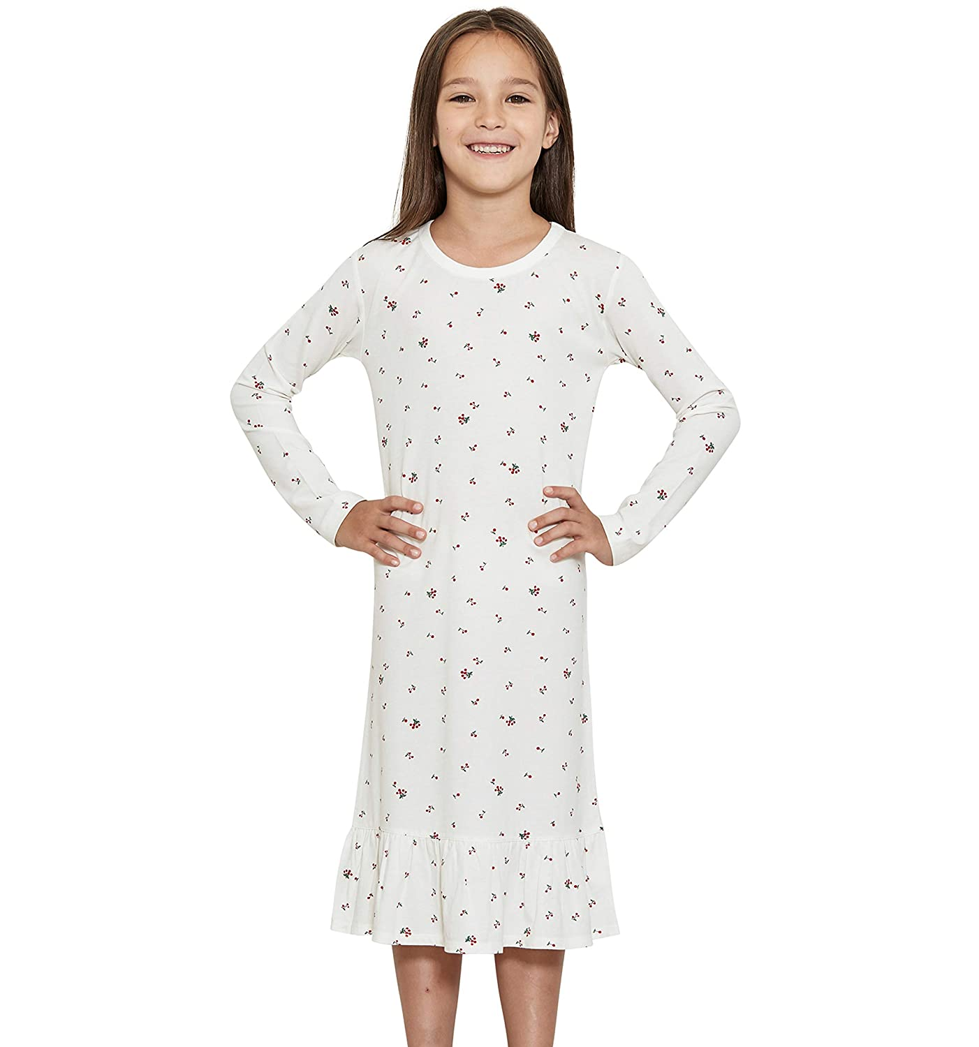 12 Years Long Sleeve orcite Girls Kids Toddler Nightgown Cotton Cute Pajamas Princess Night Gown Size 2t
