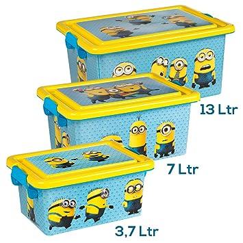 MINIONS Lote 3 Cajas Ordenación 3,7 L / 7 L / 13 L: Amazon.es: Juguetes y juegos