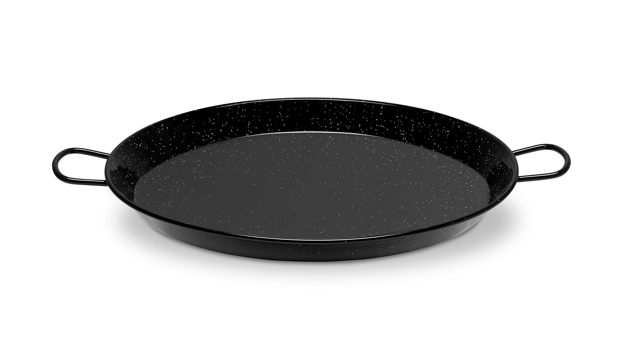 Paella Pan Enamelled Carbon Steel 22 Inches/55cm/up to 16 Servings by Castevia Imports Vaello