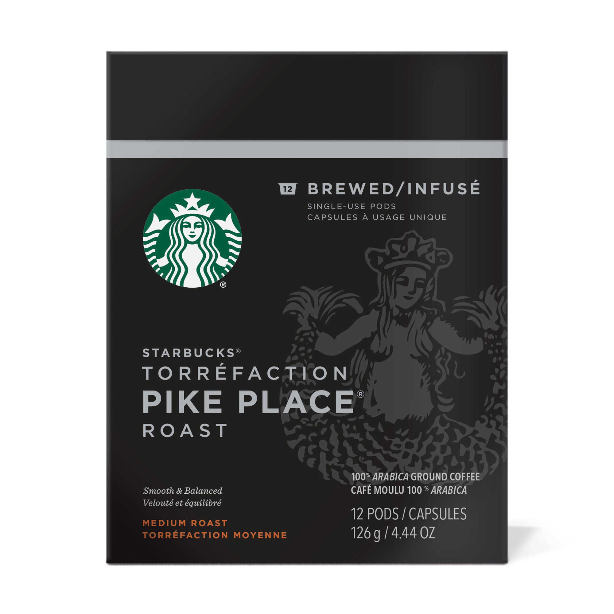 Starbucks Pike Place Roast Brewed Coffee Verismo Pods (96 Count)