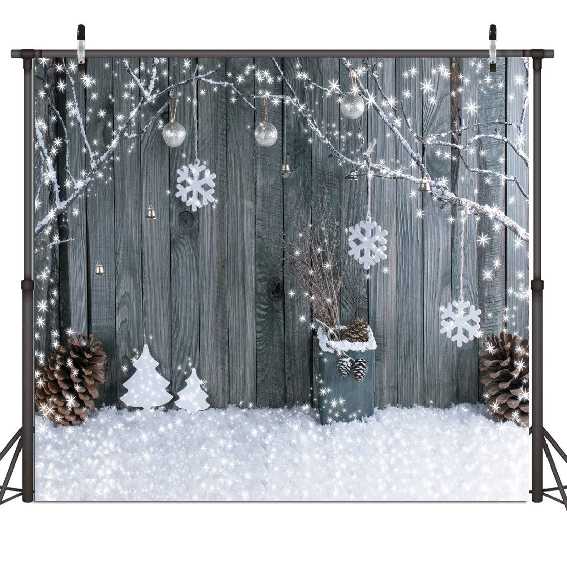 Dudaadcvt 7x5ft Vinyl Christmas Backdrops Photography Vintage Christmas Fireplace Photo Backdrops Customized Photo Background Studio Props D0320705