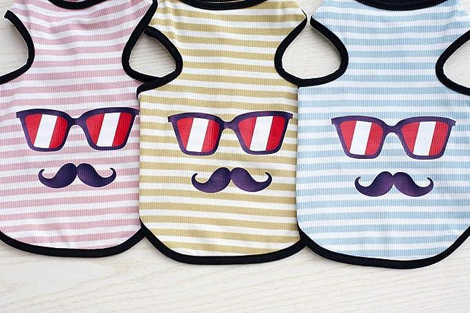 Gusspower-ropa mascotas,Chaleco Casual de Sin Manga para ...