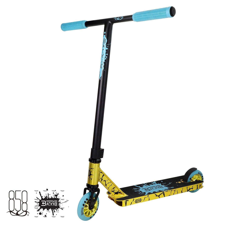 Ride 858 Backie - Patinete Completo, Color Dorado y Azul 4897048227232