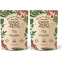 ChocZero's Keto Bark, Dark Chocolate Hazelnuts with Sea Salt. Sugar Free, Low Carb. No Sugar Alcohols, No Artificial Sweeteners, All Natural, Non-GMO (2 bags, 6 servings/each)