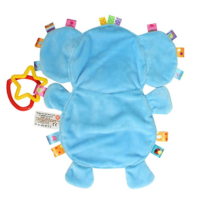 Elephant Pig Lion Cow Cartoon Animal Plush Toy Baby Sleeping Toy No Lint Newborn Comfortable Terry Cloth for 0-18 Months Baby Can Bite ,Eleghant