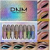 8 Colors Glitter Eyeliner Liquid Makeup Set delineadores de colores,DNM Eye Glitter Liquid Eyeliner Colorful Set Gold Silver