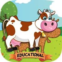 适于儿童的动物拼图 – 教育版