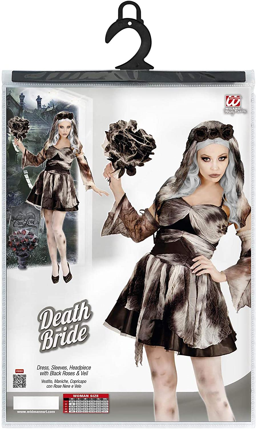 Multicolore, 05651 S Widmann-Death Bride Costume Donna