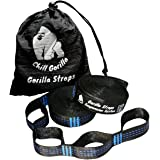 CHILL GORILLA xl hammock tree hanging straps. Combined 20 ft long, 30 loops. Supports 1400 lbs. Fits all hammocks. Lightweight no stretch suspension system. Backpacking camping ENO accessory