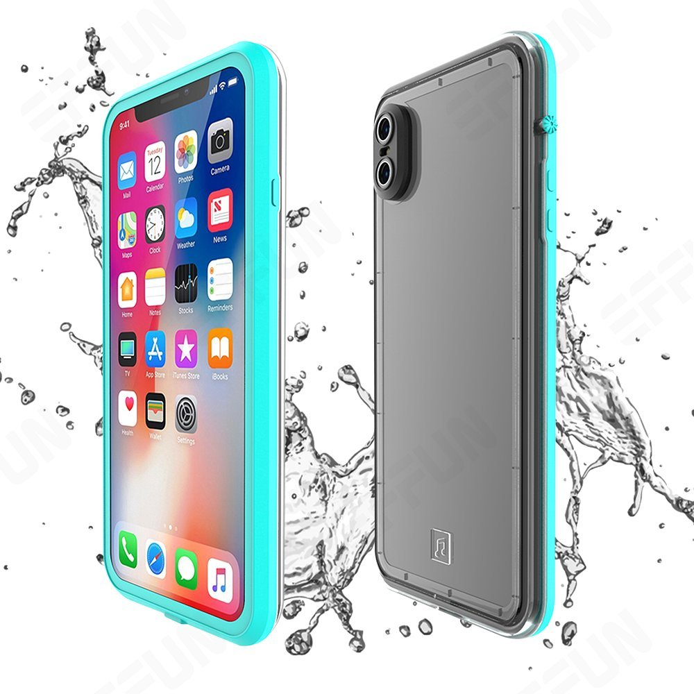 buy popular d8107 45e4c EFFUN iPhone X Waterproof Case, IP68 Certified Waterproof Shockproof  Dirtproof Snowproof Case Fully Sealed Underwater Cover with Built-in Screen  ...