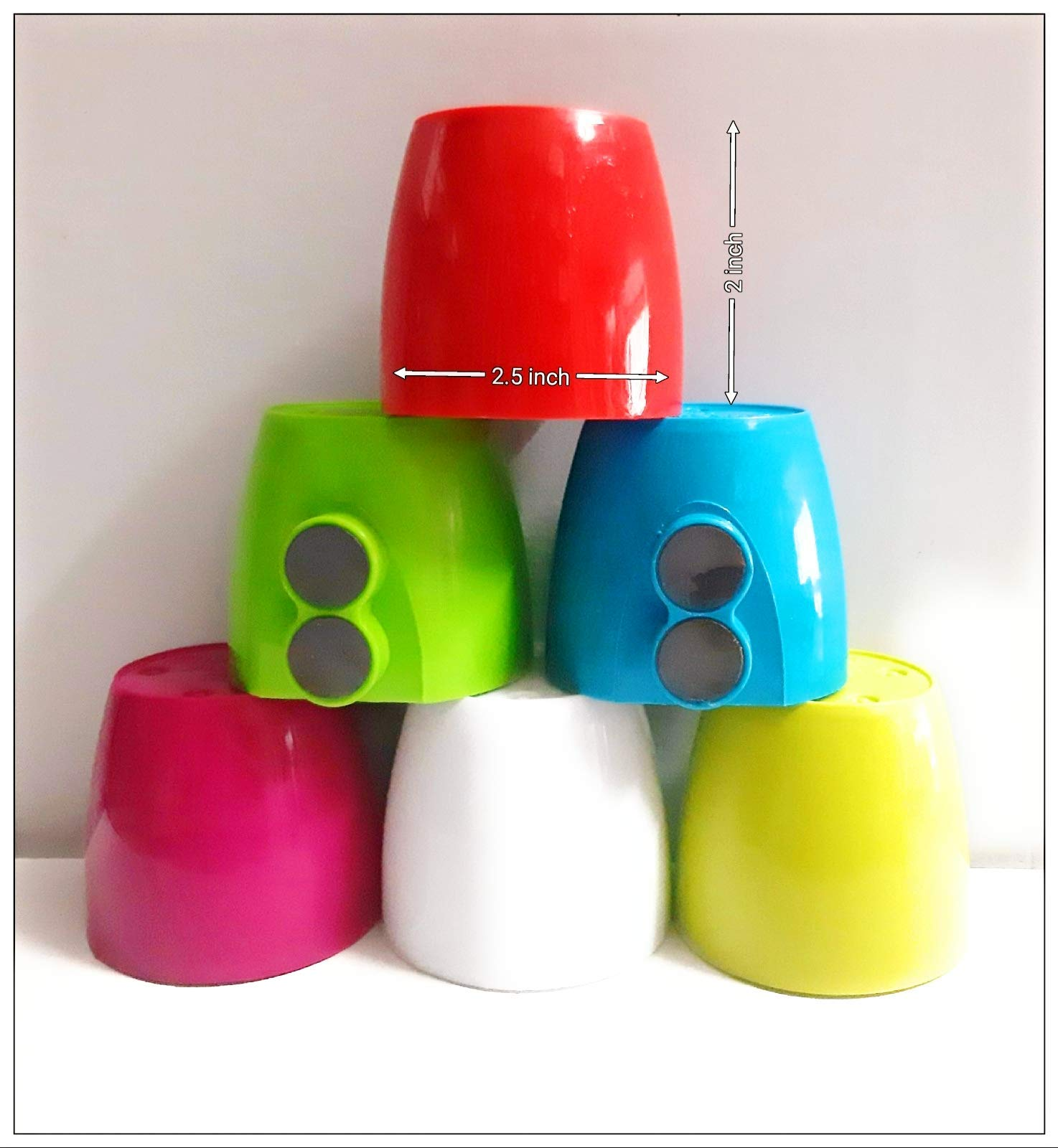 Nayi Umang Fridge Small Magnet Pot for Window/Door (Multicolour) - Pack of 6 Magnet Pot with Free 6 net Pot. (B07YSL638B) Amazon Price History, Amazon Price Tracker