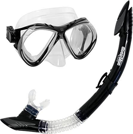 Deep Blue Gear Del Sol 2 Diving Mask and Semi-Dry Snorkel Set