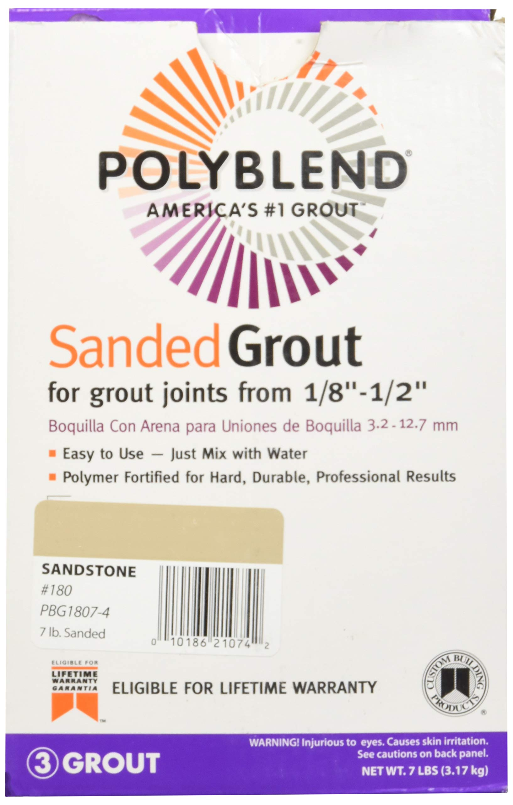Custom Building Products PBG3357-4#335 GRY Sand Grout, 7 lb