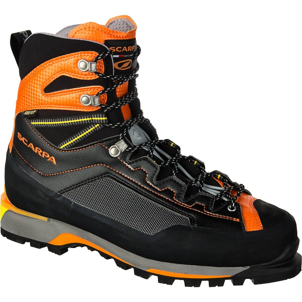 Scarpa Men's Rebel Pro GTX Mountaineering Boots B00GE9096Q 42.5 M EU|Black / Orange