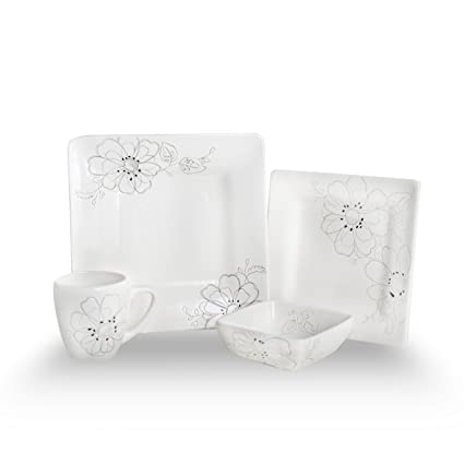 Laurie Gates 52815 Felicity Dinnerware Set 16-Piece  sc 1 st  Amazon.com & Amazon.com - Laurie Gates 52815 Felicity Dinnerware Set 16-Piece ...