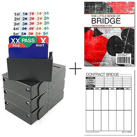 amazon com jannersten bid buddy black set of 4 bridge bidding
