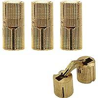 aufodara 4 stuks inboorscharnier koperen barrel verborgen scharnier 180° openingshoek cilinder messing scharnier voor…