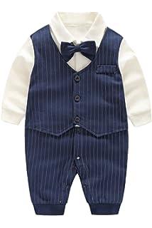 8f7e98a5ebbb3 (AFROMARKET) ロンパース ベビー 男の子 長袖 かわいい フォーマル 服 おしゃれ 赤ちゃん 記念日 結婚式