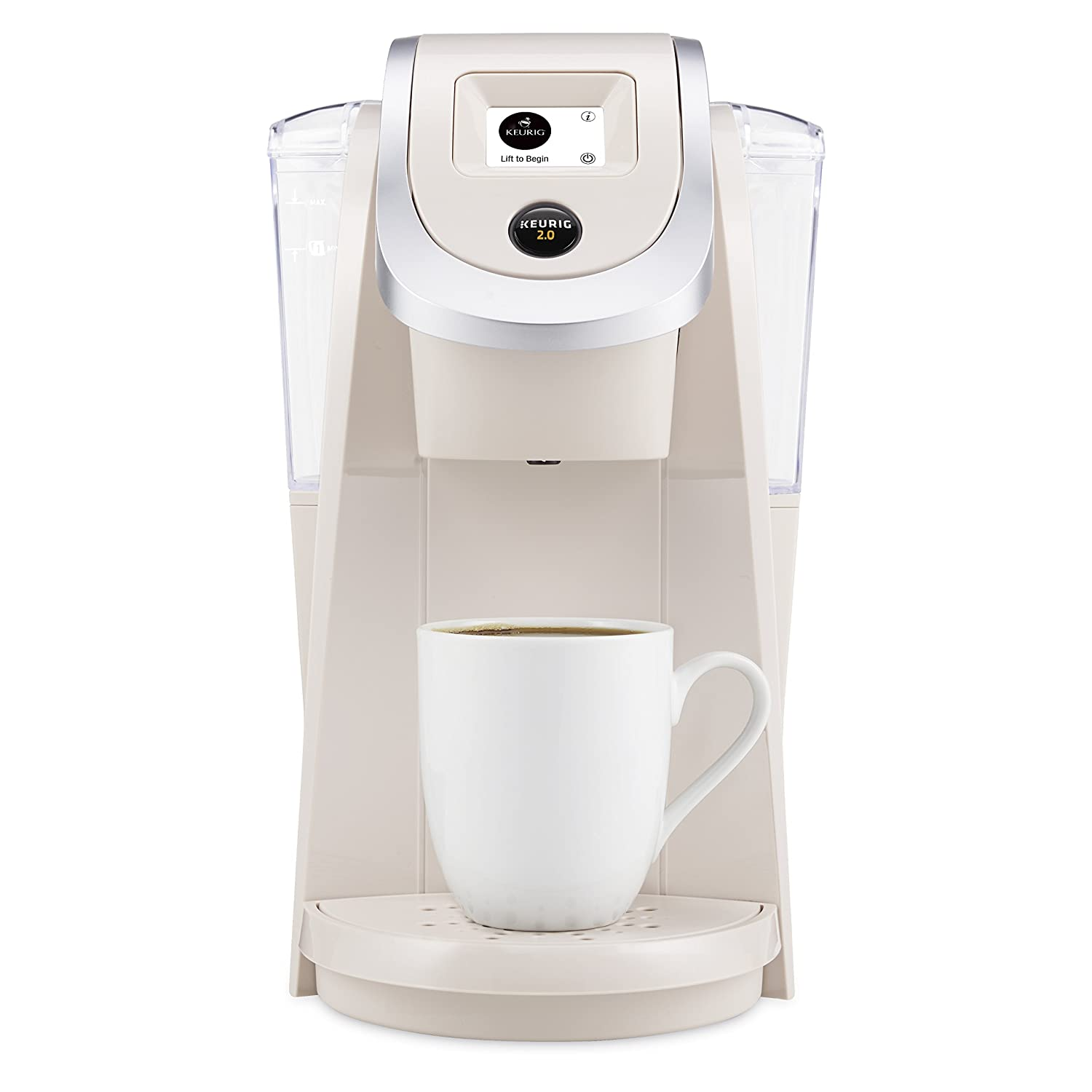 Amazon Keurig K250 20 Brewing System Sandy Pearl Kitchen Dining