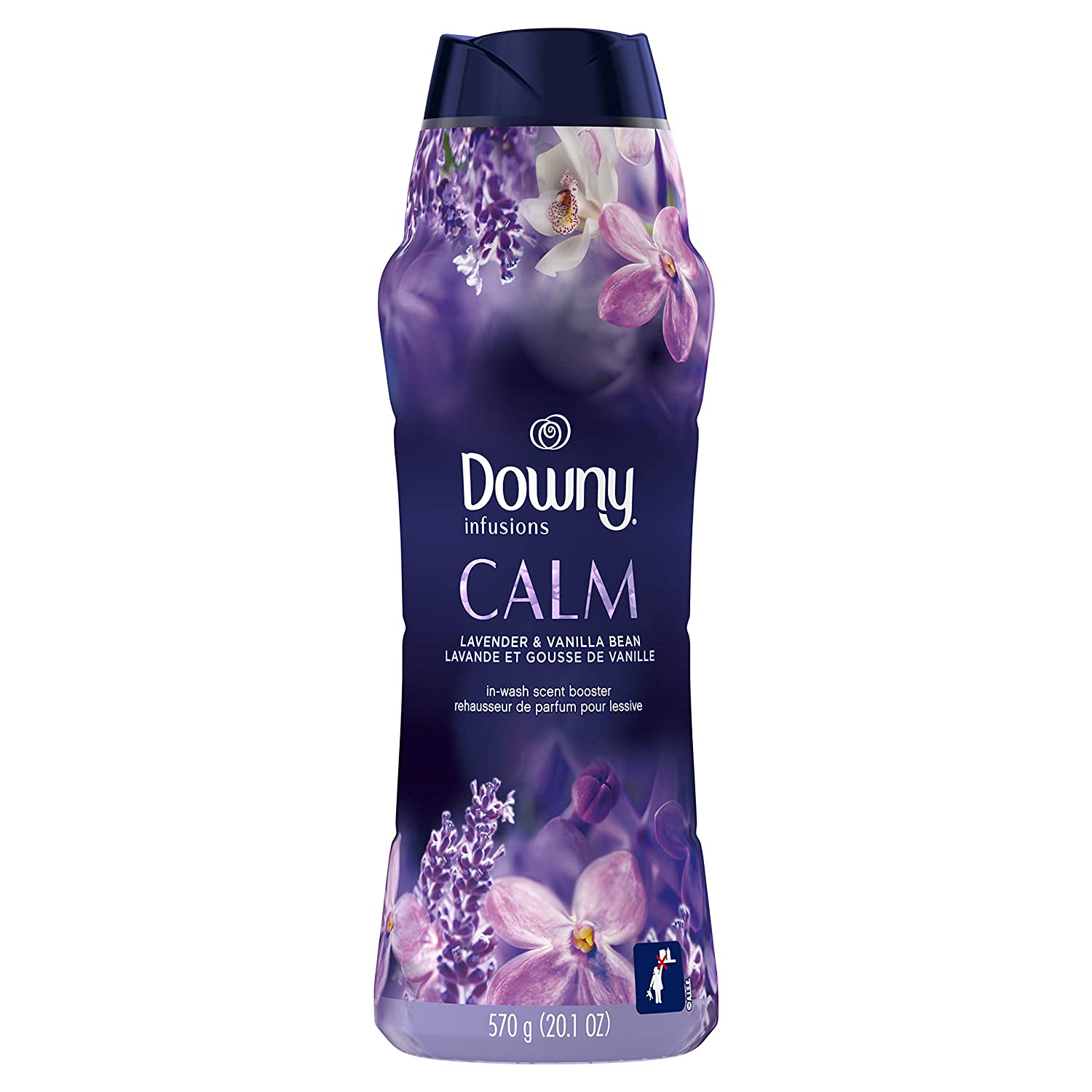 Downy Infusions in-Wash Scent Booster Beads, Calm, Lavender & Vanilla Bean, 20.1 Oz