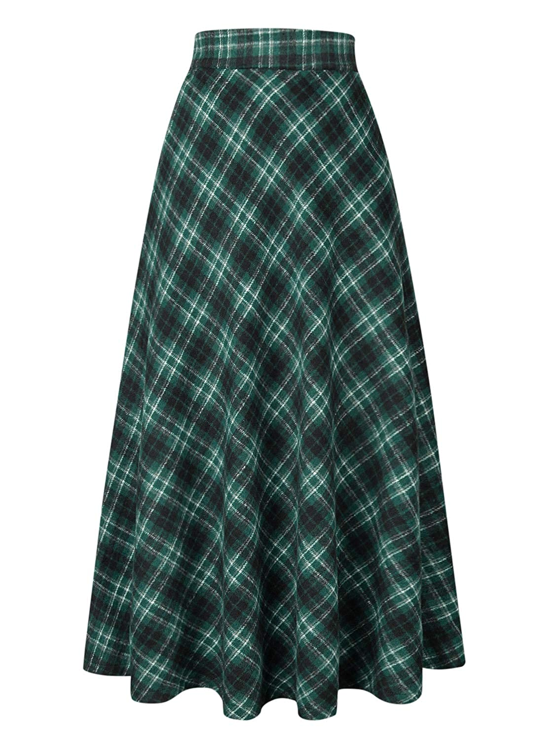 1900 -1910s Edwardian Fashion, Clothing & Costumes Choies Womens High Waist A-line Flared Long Skirt Winter Fall Midi Skirt $38.99 AT vintagedancer.com