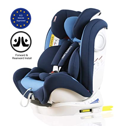 LETTAS Convertiblle 0+1//2//3 PLUS Group 0-36 kg// 0-12 Year Combination Baby Car Seat Reclining ISOFIX Grey/_ISOFIX