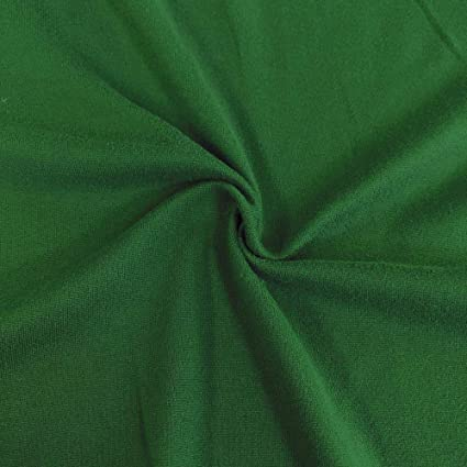 da571e41ba9 Amazon.com: Pappermint Store Kelly Green DTY Double-Sided Brushed Fabric 4  Way Stretch Jersey Knit Apparel #FWAD