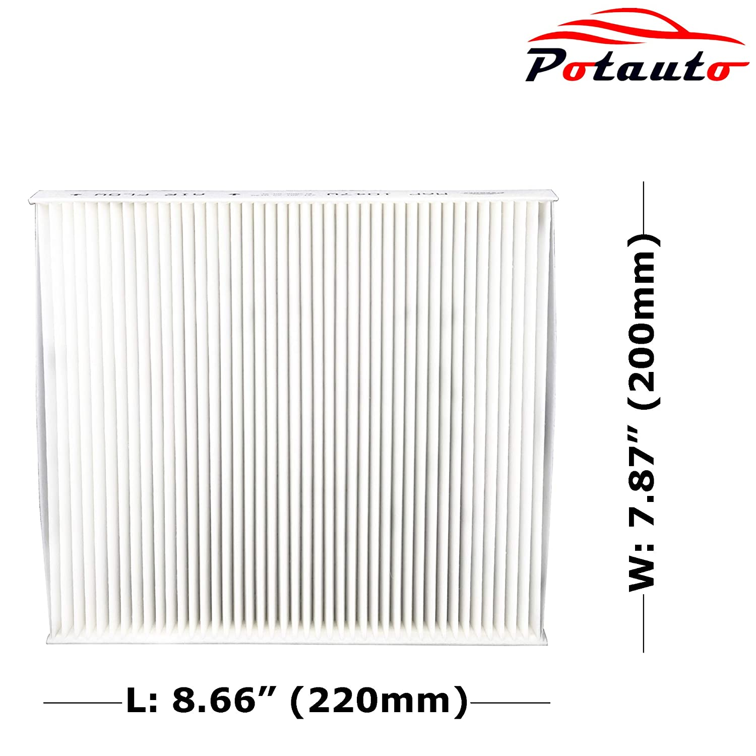 INSIGHT RC TURBO GS F GS TURBO RC350 IS200T CF8249A RC200T IS300 IS TURBO CR-V GS200T POTAUTO MAP 1047C RC F Replacement Activated Carbon Car Cabin Air Filter for HONDA GS450H IS350 RC300 GS350 LEXUS