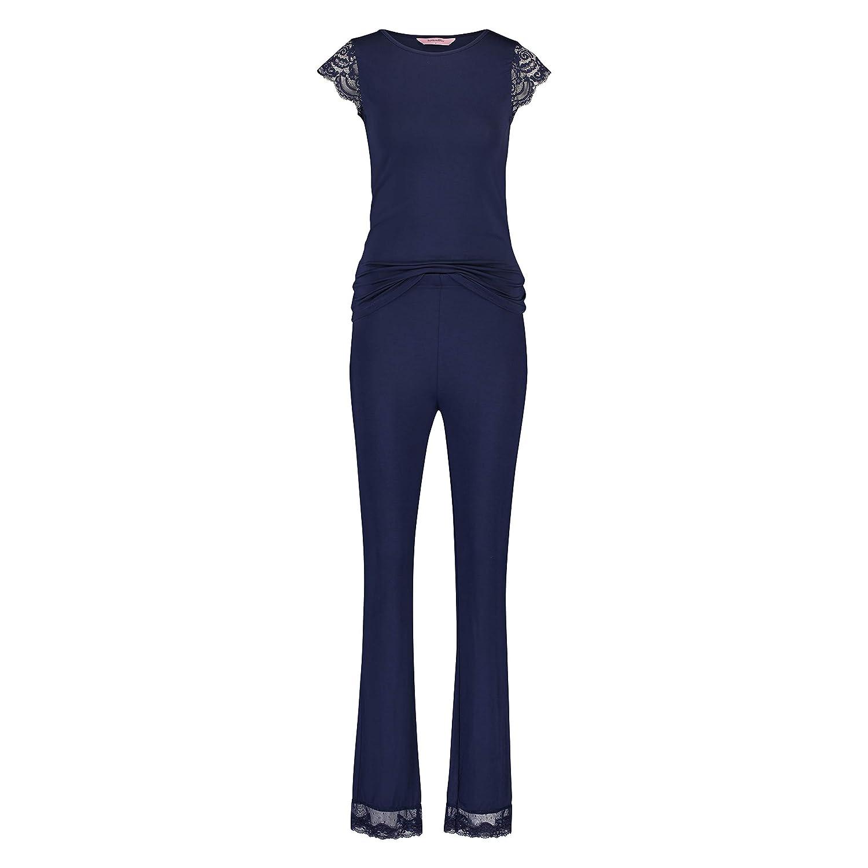 Hunkemöller Damen Pyjamaset Jersey Lace