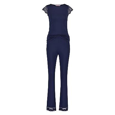 new style 6bbf1 2688b Hunkemöller Damen Pyjamaset Jersey Lace