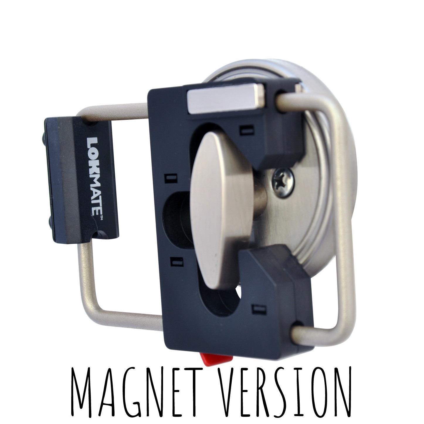 LOKMate Portable Deadbolt Guard Door Lock New Magnet Version Rose Gold // White