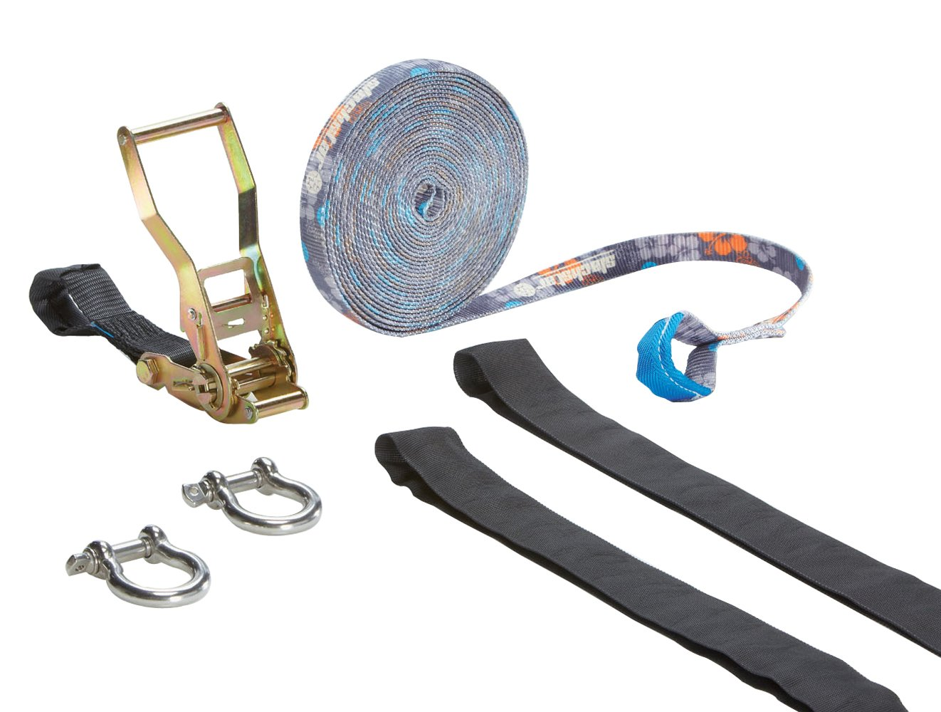 Slackstar Slackline-Set, 10 m lang, 2,5 cm breit
