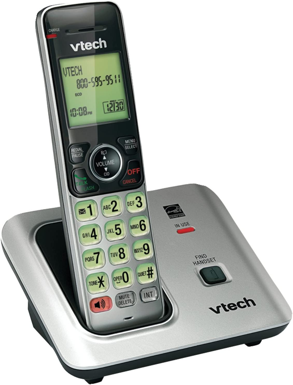 VTech CS6619 Dect 6.0 1-Handset Cordless Telephone: Amazon.es: Electrónica