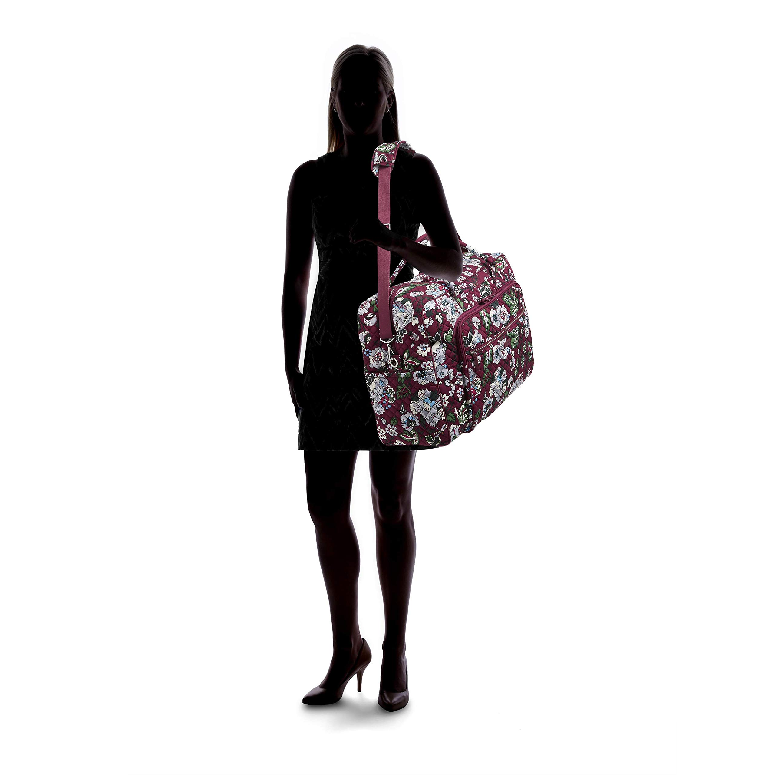 Vera Bradley Iconic Grand Weekender Travel Bag, Signature Cotton, bordeaux blooms by Vera Bradley (Image #8)